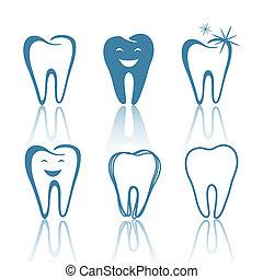 Vector Teeth Designs - Vector Illustration of Abstract Teeth...