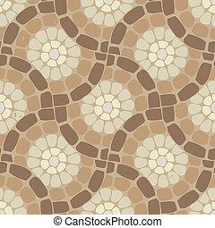 vector, tegel, mozaïek, vloer, steen, achtergrondmodel
