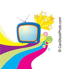 Vector televisions background. Abstract