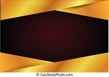 template blank banner gold black and red