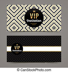 Vector template design for VIP invitation
