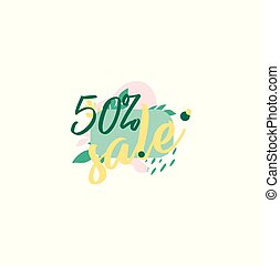 Vector template - discounts up to 50% isolated