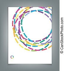vector template for a business with multi-colored circles