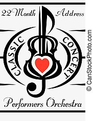 vector template for invitation to concert of classical...
