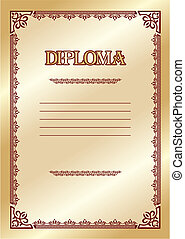 diploma - vector template for the award diploma