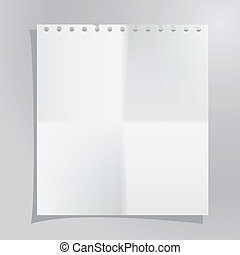paper sheet - Vector template of a paper sheet. Image...
