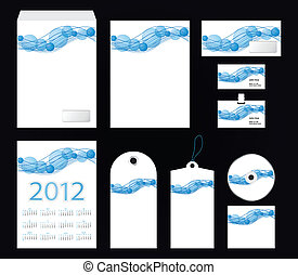 vector template of identity set - stationery design