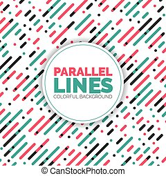 Vector Template Parallel Diagonal Overlapping Color Lines...