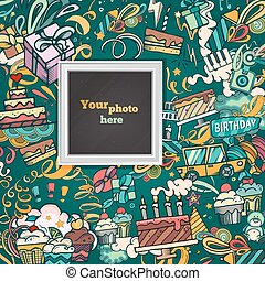 Vector template photo frame