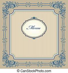 Vintage designed menu