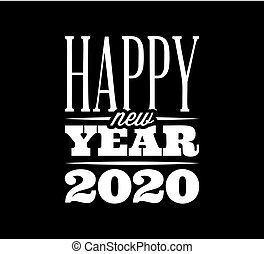 Vector template with congratulation for the new 2020 year
