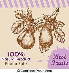 Vector template with hand drawn figs. Vector illustration.