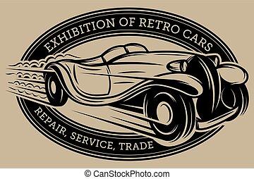 Vector template with retro car