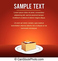 Vector Template with Tiramisu Fancy Cake