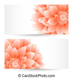 Vector templates flowers graphic designs.