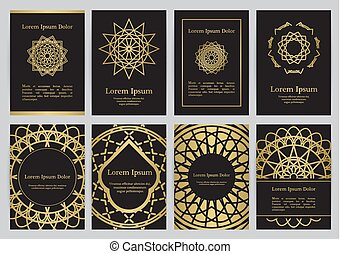 Vector templates for A4 with sacred geometry symbols