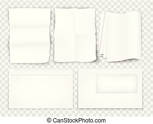 templates set of corporate identity paper sheet