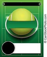 vector, tenis, torneo, plantilla