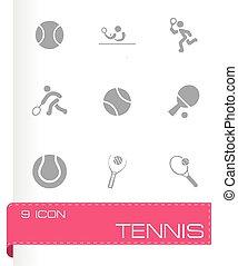 vector, tennis, set, pictogram