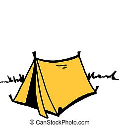 Vector Tent - Vector Illustration of a Camping Tent