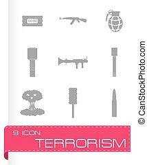 Vector terrorism icons set
