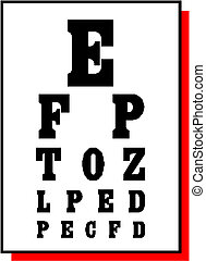 Vector test alphabet