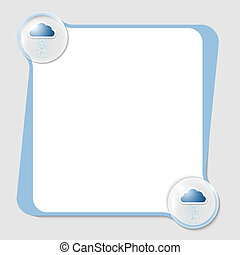vector text box for any text with two clouds