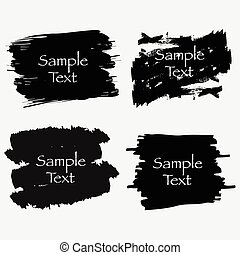 Vector Text Boxes Collection. Hand Drawn Frames.