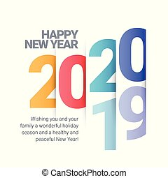 Vector text Design 2020. Happy new year template greeting ...
