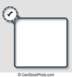 vector text frame with check box and arrows