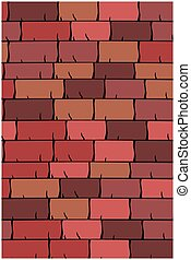 Vector texture illustration of Seamless red clay roof tiles, slate.