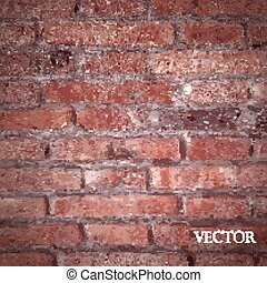 vector texture of red brick wall