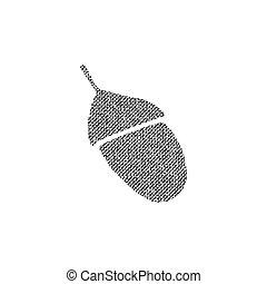Vector textured acorn