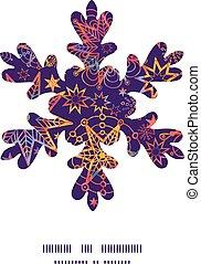 Vector textured christmas stars Christmas snowflake...