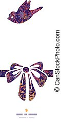 Vector textured christmas stars gift bow silhouette pattern...