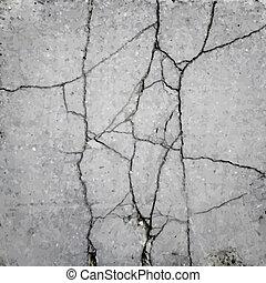 vector, textuur, asfalt, barst
