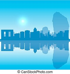 Vector Thailand silhouette skyline