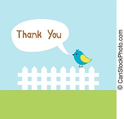 thank you - vector thank you card