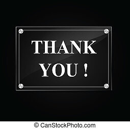 Vector thank you sign - Vector illustration of thank you...