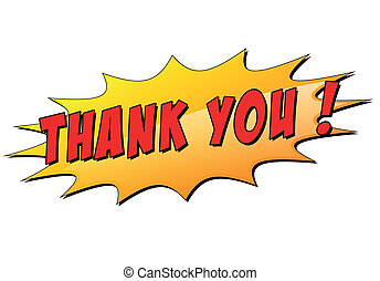 Vector thank you star - Vector illustration of thank you...