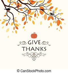 Vector Thanksgiving Background - Vector Illustration of a ...