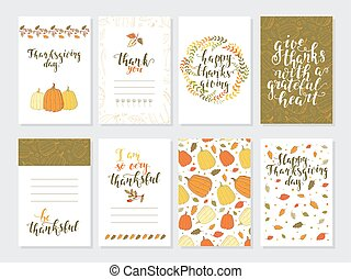 Vector Thanksgiving day greeting card