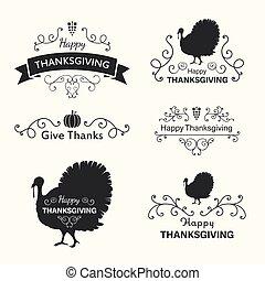 Vector Thanksgiving Design Elements