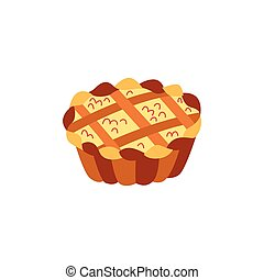 Vector thanksgiving pie flat illustration isolated