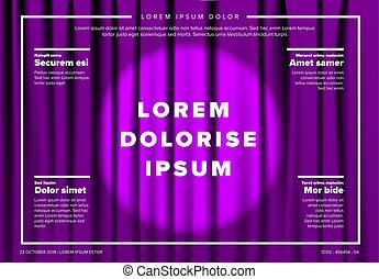 Vector theatre stage poster template