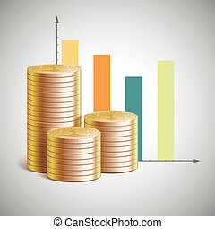 Vector theme of business with cents