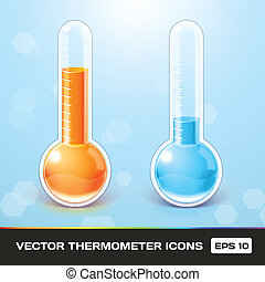 Vector Thermometer Icons