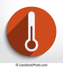 Vector thermometer web icon - Vector thermometer web flat...