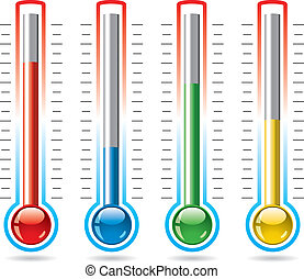 vector thermometers - vector illustration of thermometers