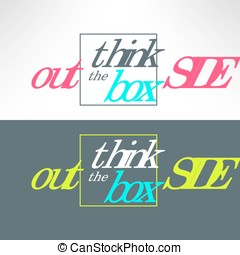 Vector think outsite the box inspirational background. Creative idea and solution searching concept